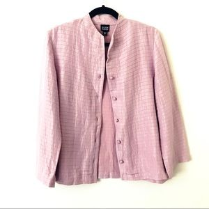 EILEEN FISHER Pink Button Front Jacket
